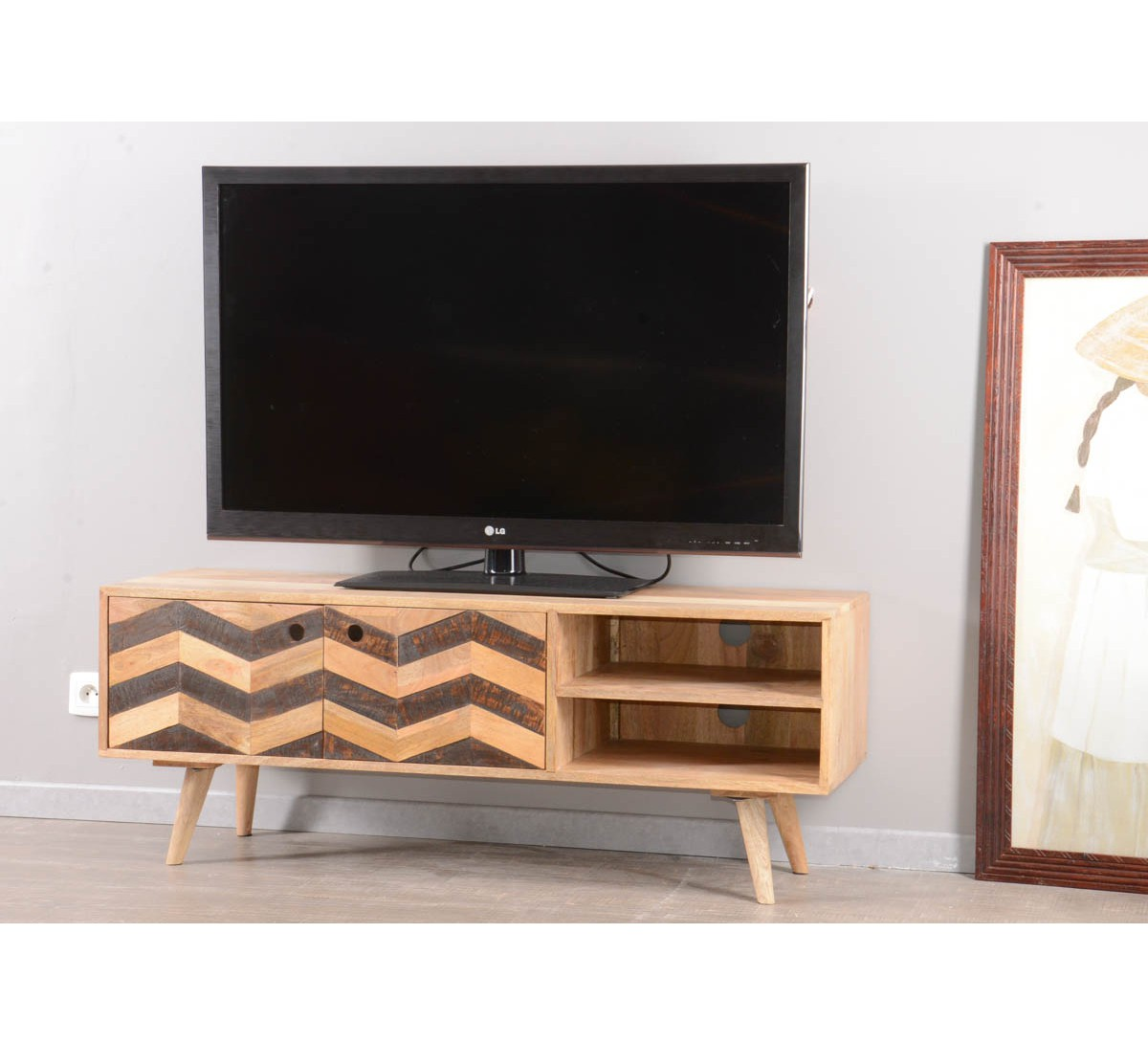 meuble tv 130 cm id es de d coration int rieure french decor. Black Bedroom Furniture Sets. Home Design Ideas
