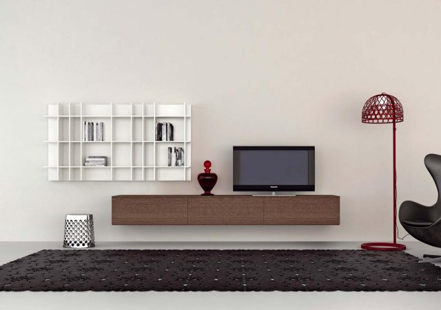 meuble tv a suspendre id es de d coration int rieure. Black Bedroom Furniture Sets. Home Design Ideas