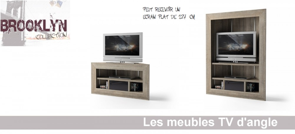Meuble tv angle design id es de d coration int rieure for Meuble tv angle design