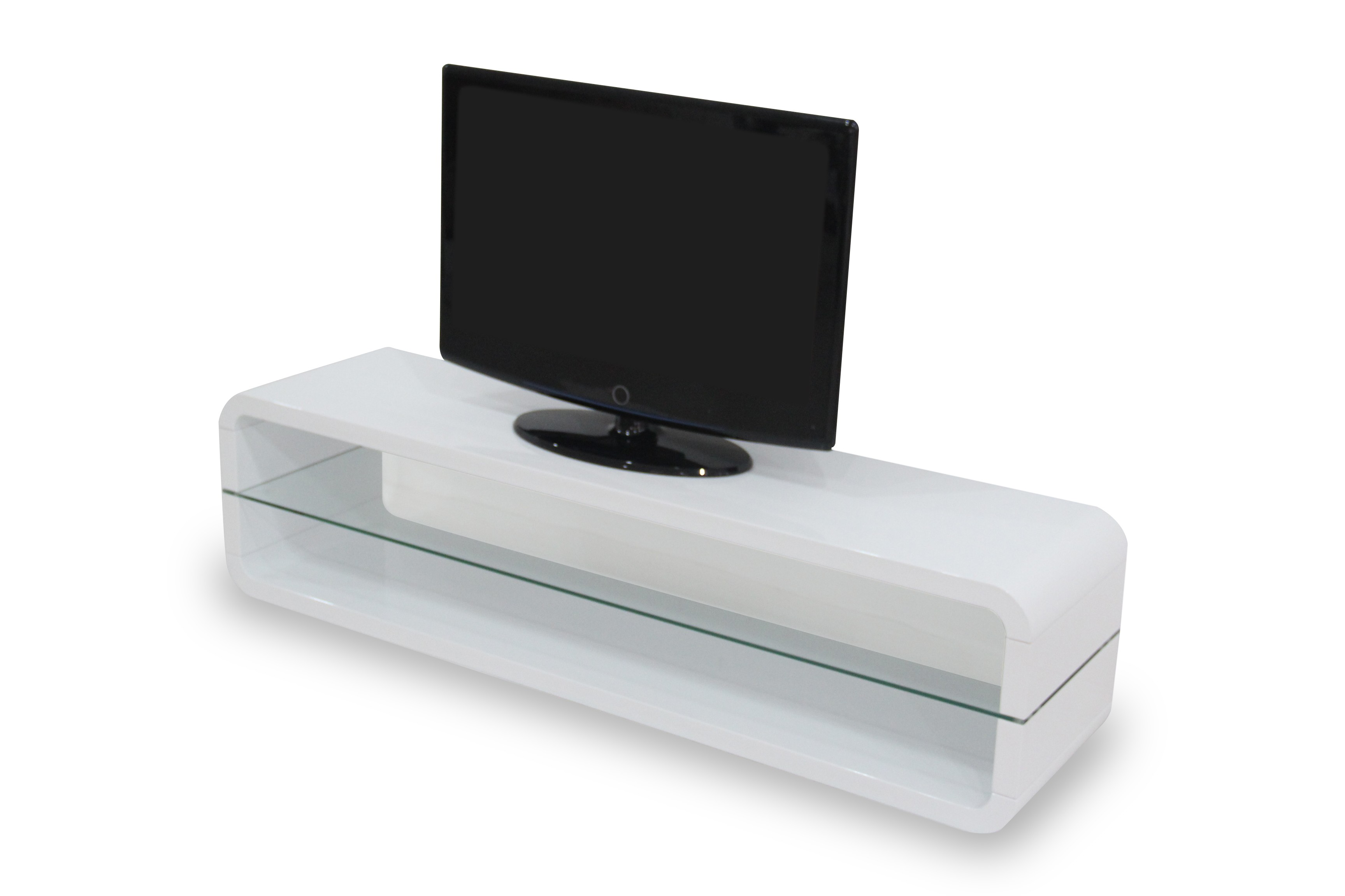 Meuble tv bas blanc laqu 11 id es de d coration for Meuble bas tv blanc