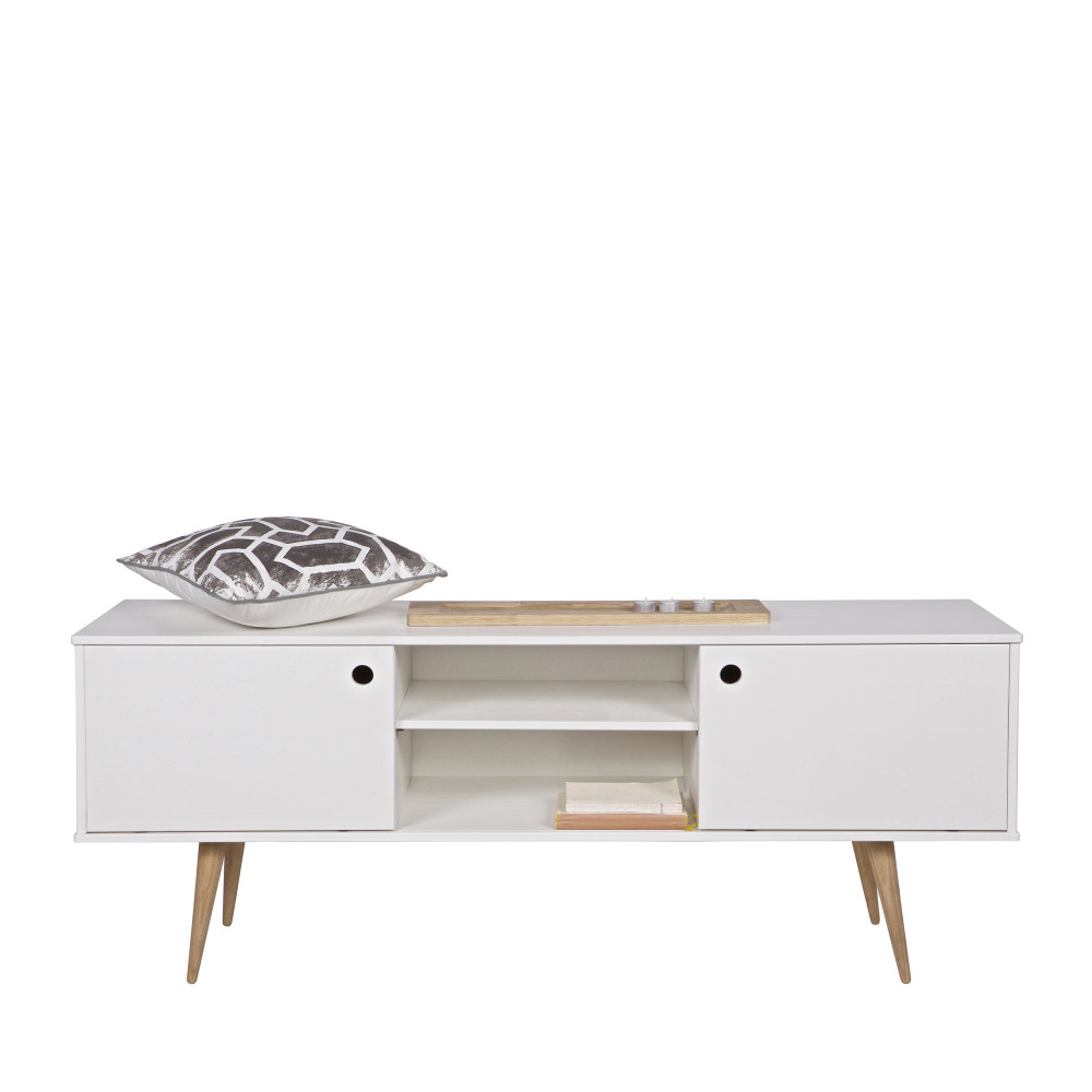 meuble tv blanc en bois 18 id es de d coration. Black Bedroom Furniture Sets. Home Design Ideas