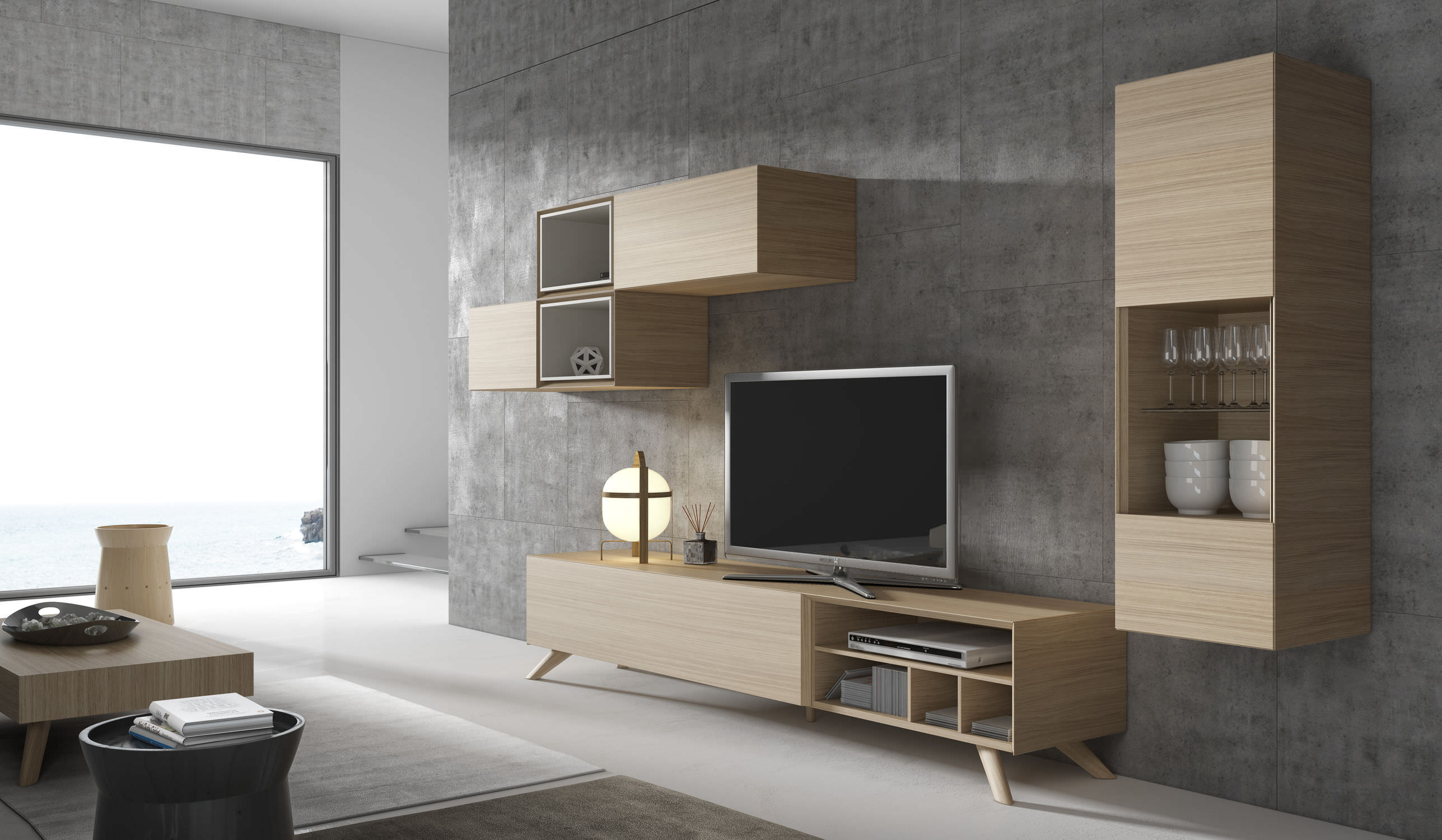 Meuble tv contemporain design id es de d coration for Meuble tv contemporain design