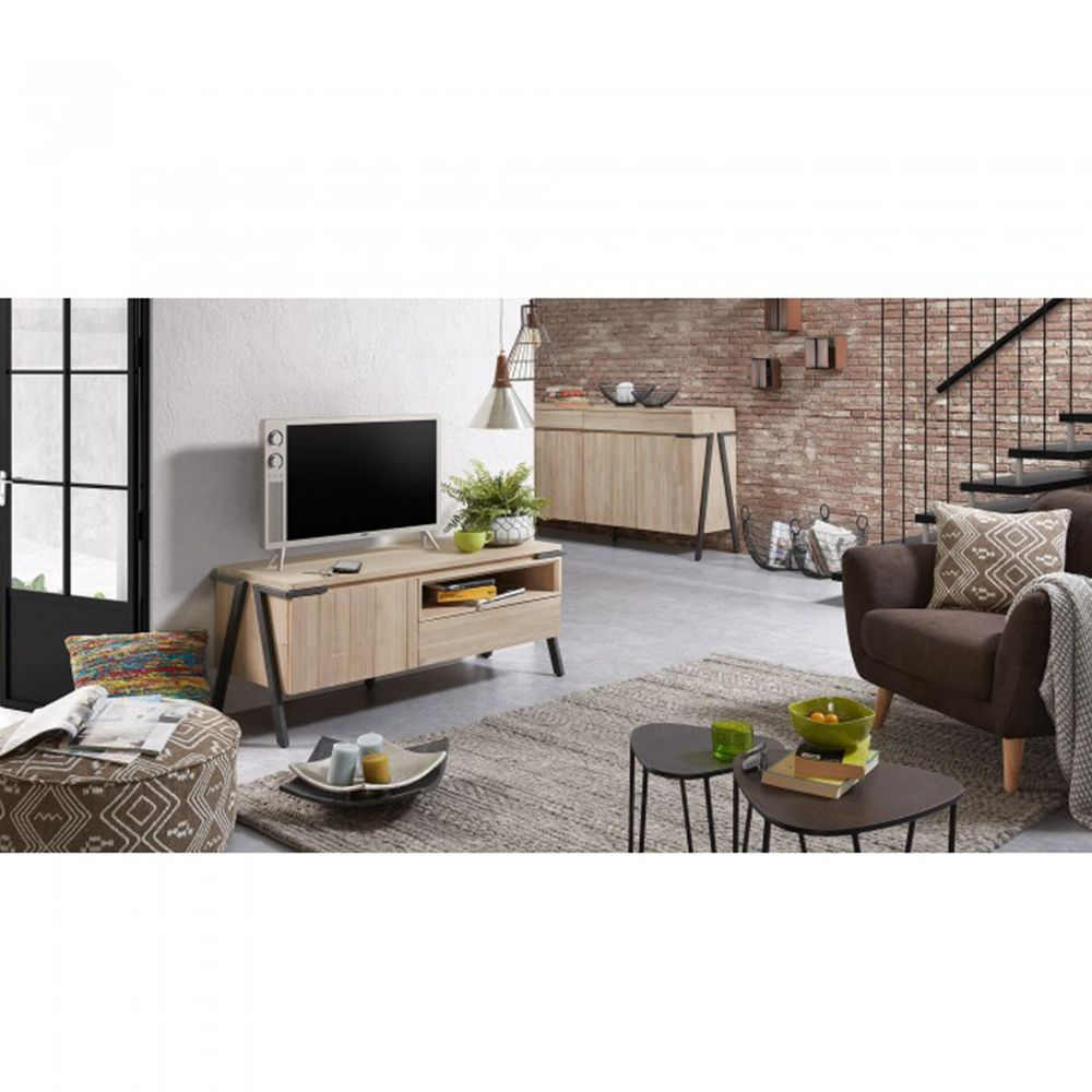 meuble tv design bois 17 id es de d coration int rieure french decor. Black Bedroom Furniture Sets. Home Design Ideas