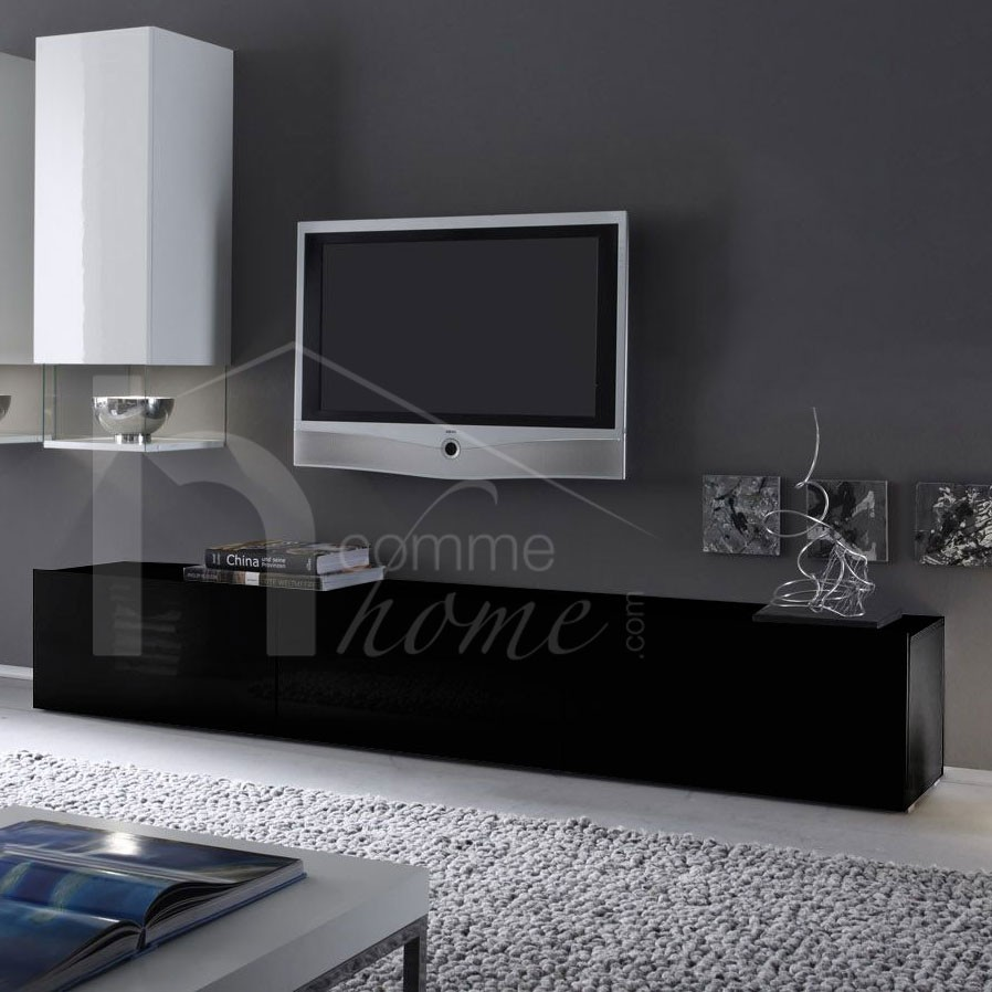 meuble tv design noir et blanc 8 id es de d coration. Black Bedroom Furniture Sets. Home Design Ideas