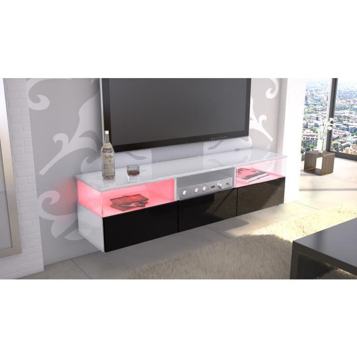 meuble tv laqu blanc et noir id es de d coration int rieure french decor. Black Bedroom Furniture Sets. Home Design Ideas