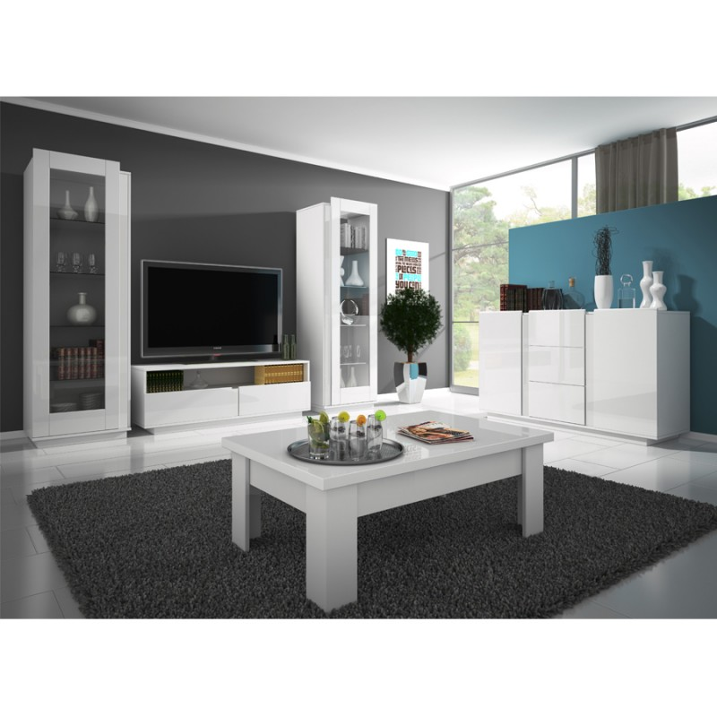 meuble tv laqu blanc pas cher id es de d coration int rieure french decor. Black Bedroom Furniture Sets. Home Design Ideas