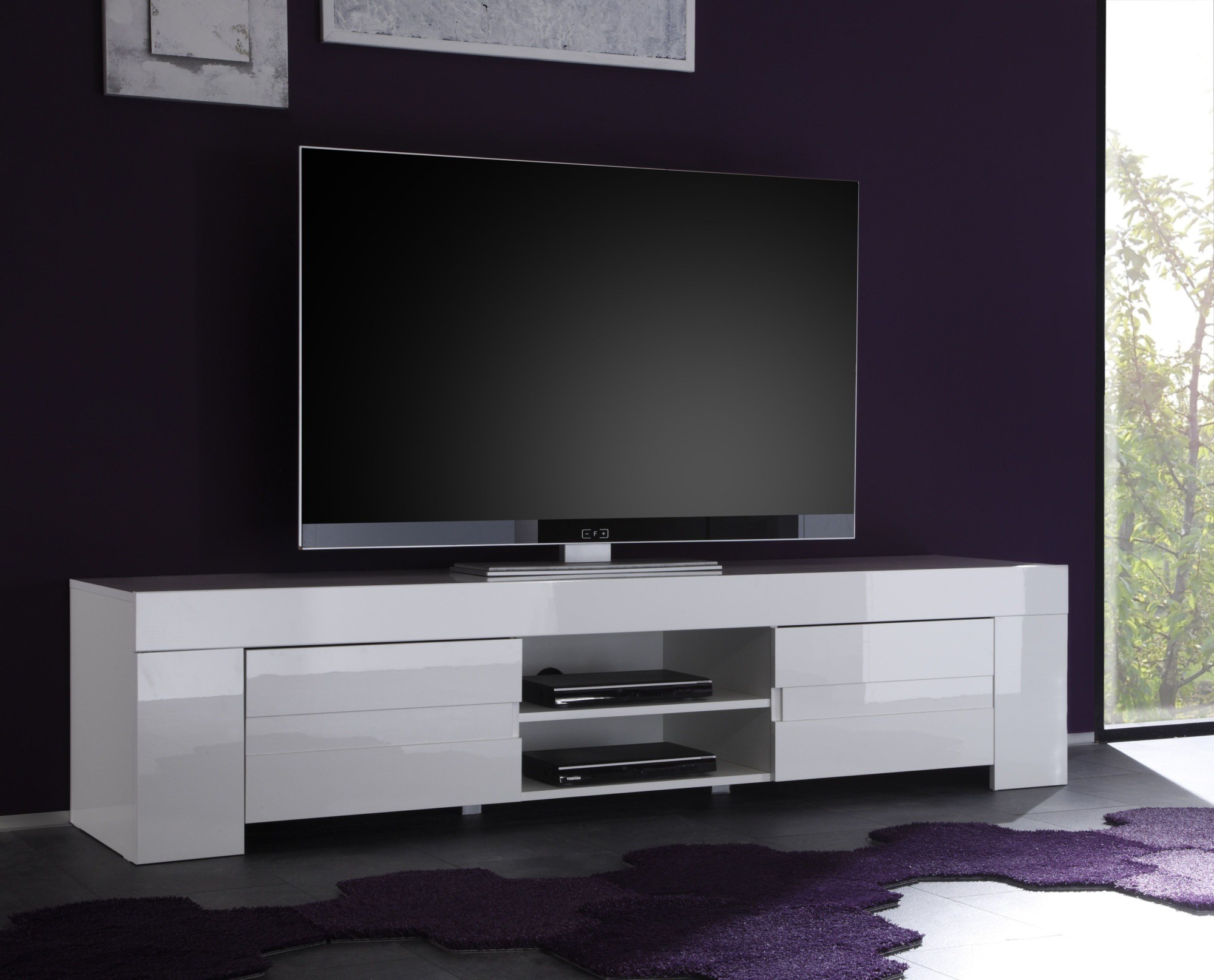 meuble tv laqu noir pas cher id es de d coration int rieure french decor. Black Bedroom Furniture Sets. Home Design Ideas