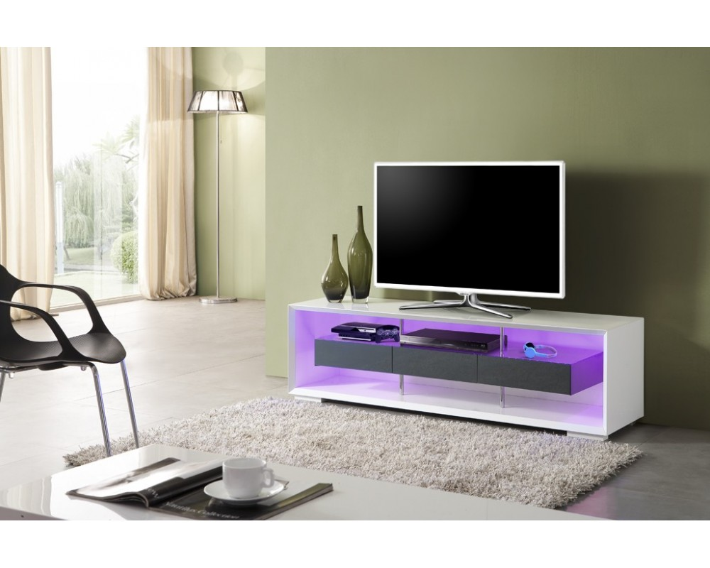 meuble tv led gris id es de d coration int rieure french decor. Black Bedroom Furniture Sets. Home Design Ideas