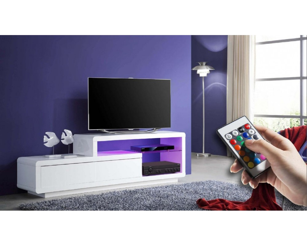 meuble tv led gris 10 id es de d coration int rieure french decor. Black Bedroom Furniture Sets. Home Design Ideas