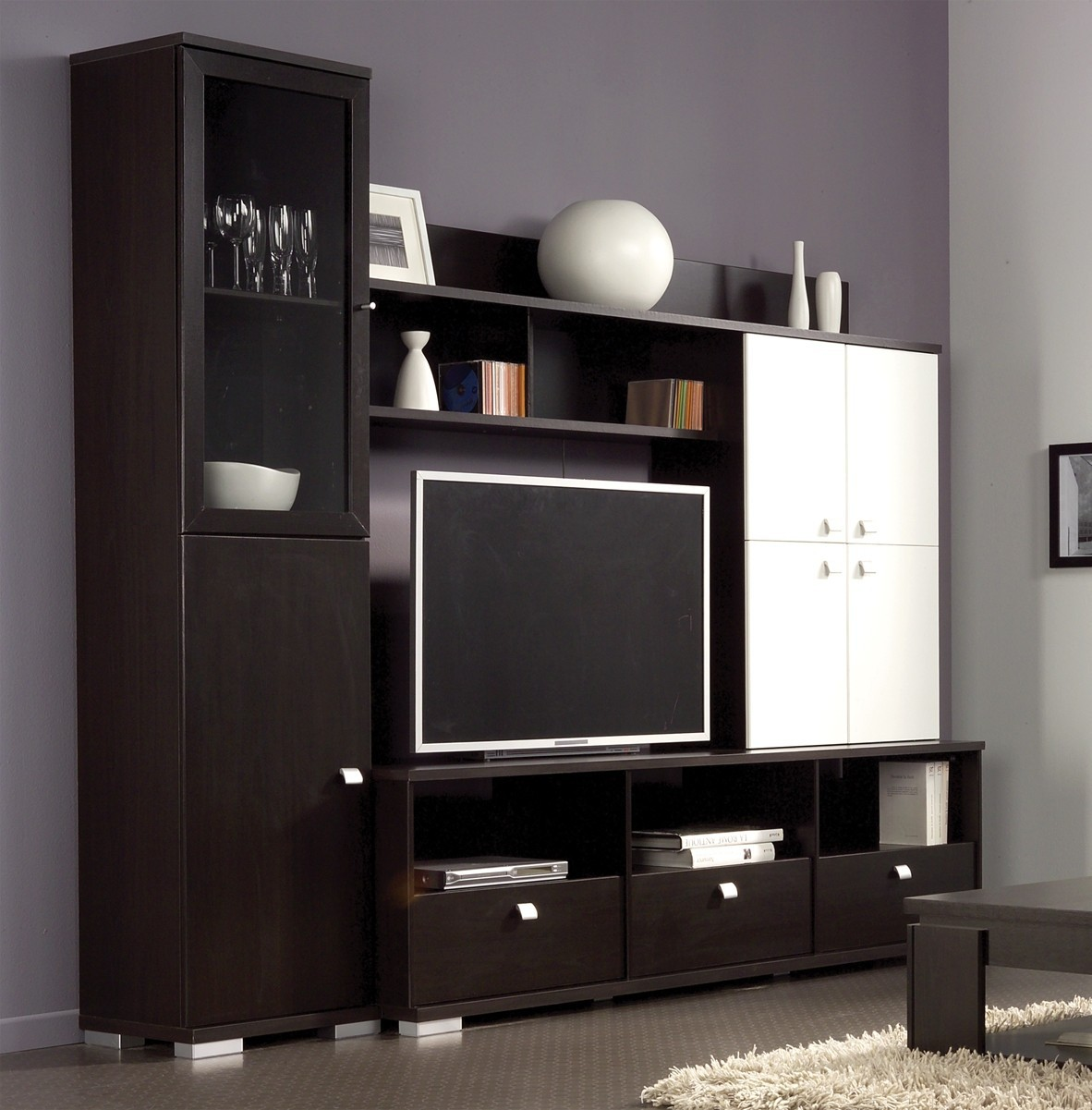 meuble tv mural bois id es de d coration int rieure french decor. Black Bedroom Furniture Sets. Home Design Ideas