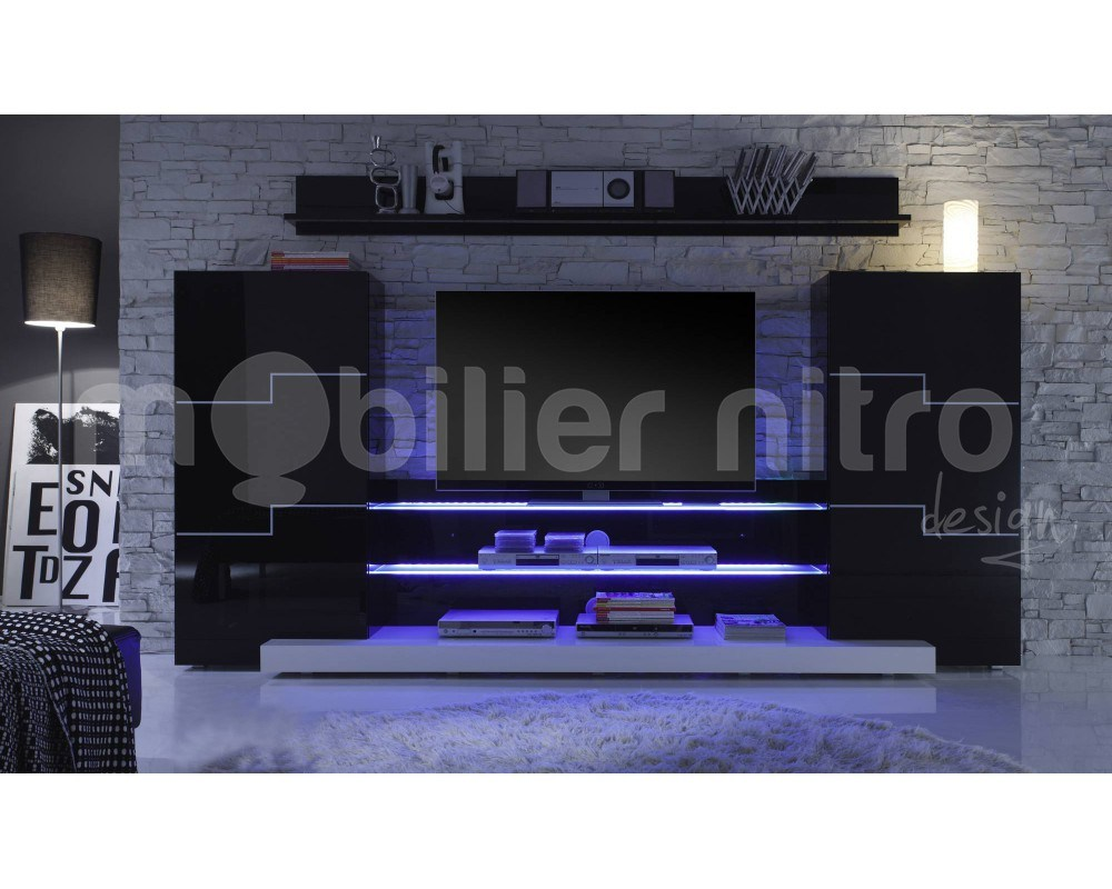 Meuble Tv Mural Noir Id Es De D Coration Int Rieure French Decor # Composer Son Meuble Tv Mural