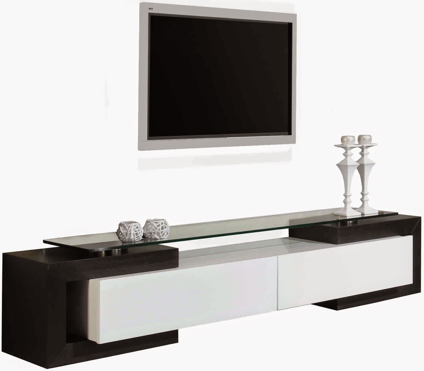 meuble tv noir et blanc laqu 3 id es de d coration. Black Bedroom Furniture Sets. Home Design Ideas