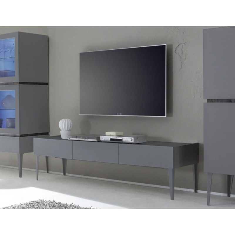 meuble tv suspendu gris perfect comment faire une double porte de placard with meuble tv. Black Bedroom Furniture Sets. Home Design Ideas