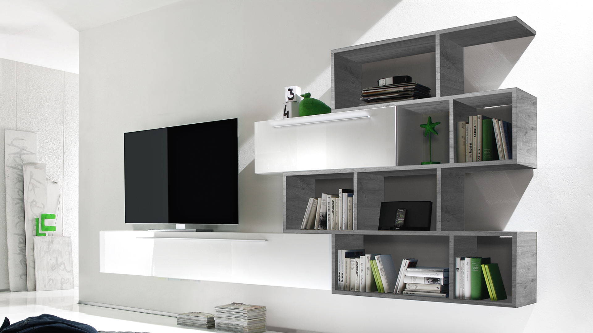 Meuble tv suspendu gris id es de d coration int rieure for Des idees de decoration interieure