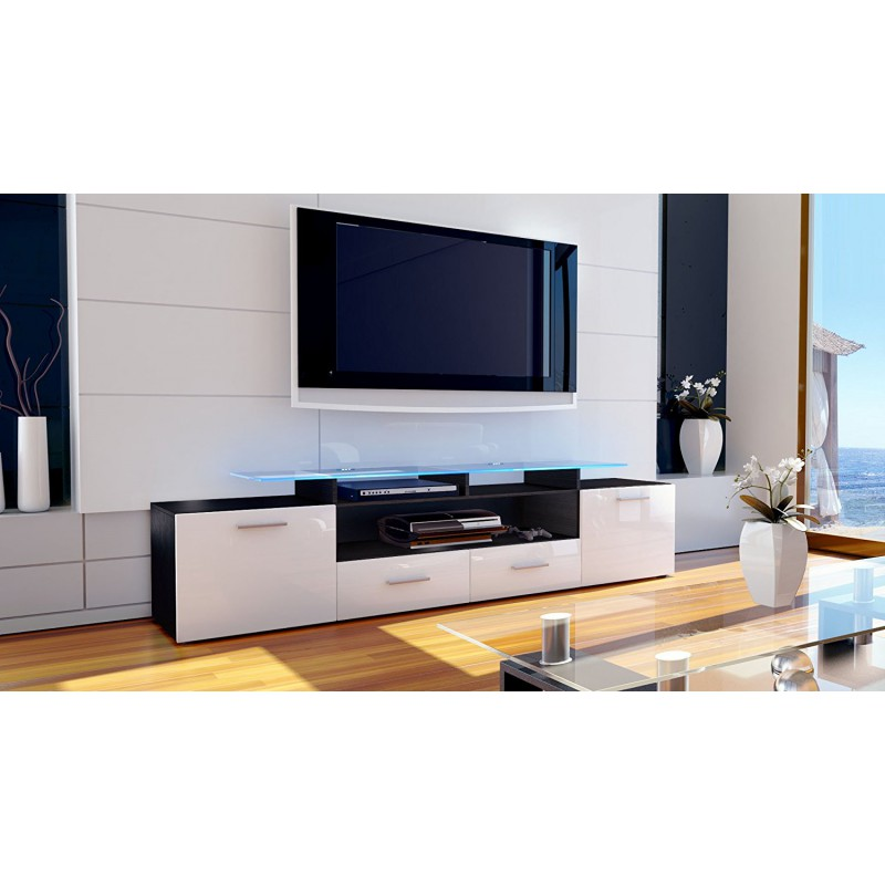 meuble tv tablette 17 id es de d coration int rieure french decor. Black Bedroom Furniture Sets. Home Design Ideas