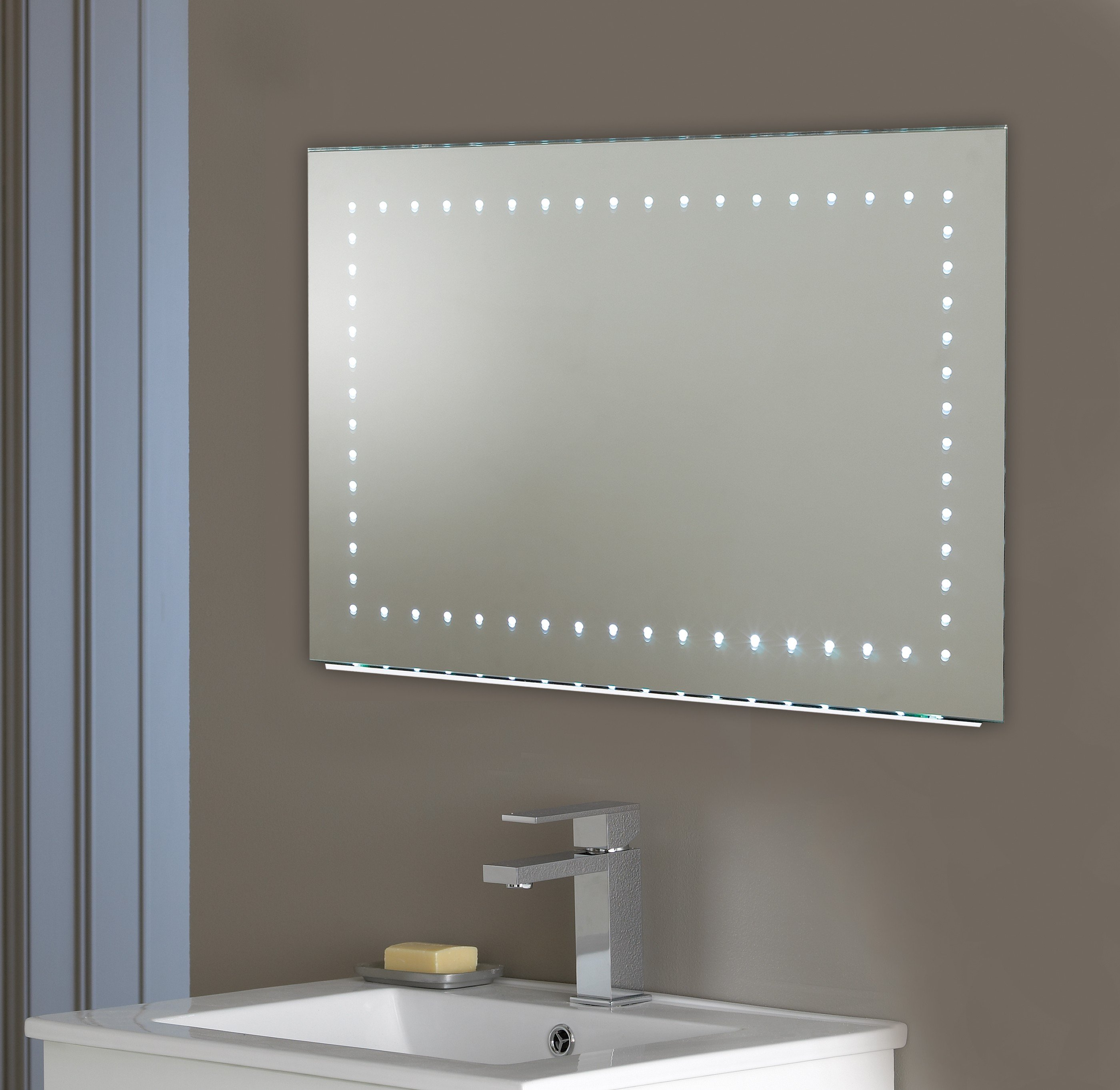 applique murale led pour miroir de salle de bain 120 cm. Black Bedroom Furniture Sets. Home Design Ideas