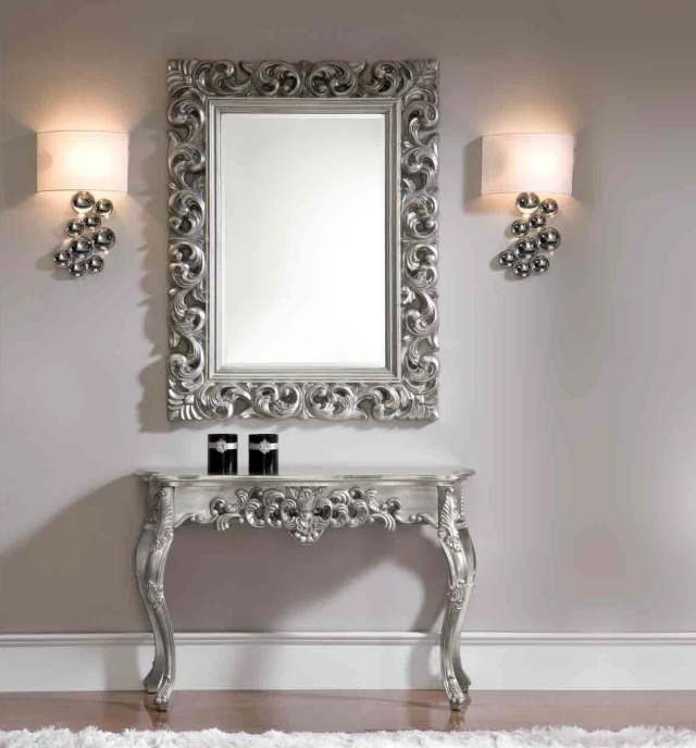 Miroir blanc baroque 19 id es de d coration int rieure for Grand miroir blanc baroque