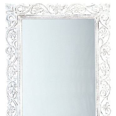 miroir bois blanc id es de d coration int rieure. Black Bedroom Furniture Sets. Home Design Ideas