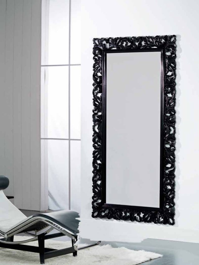 miroir cadre noir id es de d coration int rieure. Black Bedroom Furniture Sets. Home Design Ideas