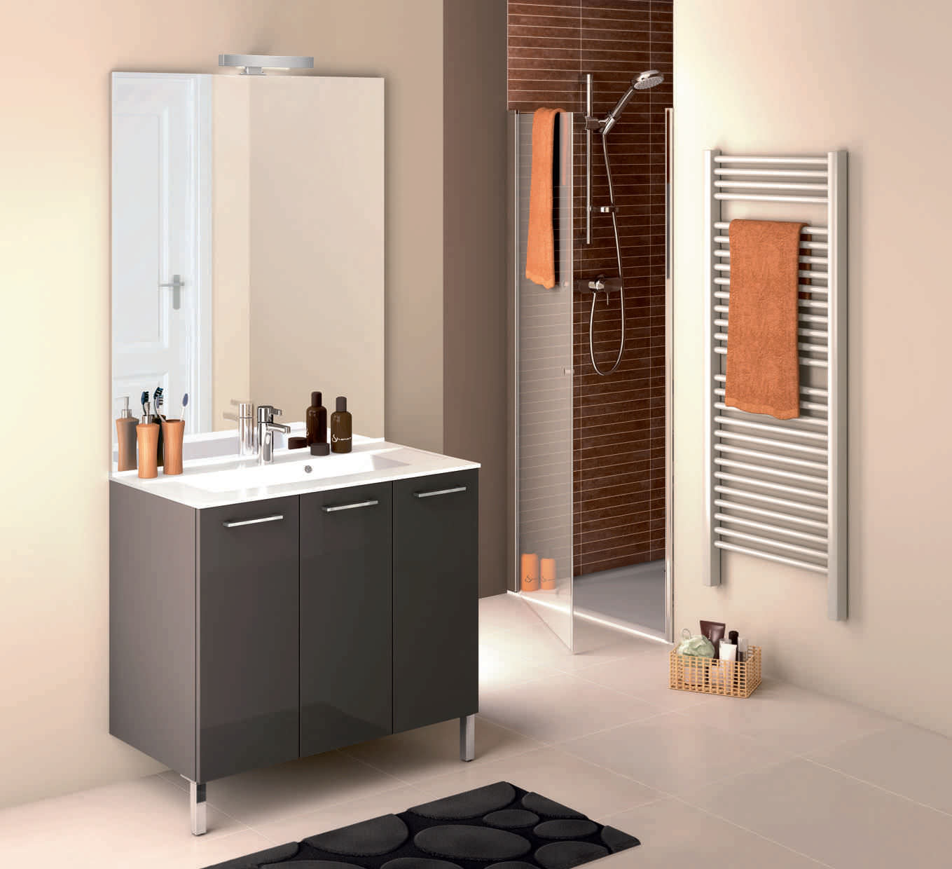 miroir a poser au sol meuble salle de bain double vasques cm blanc brillant poser au. Black Bedroom Furniture Sets. Home Design Ideas
