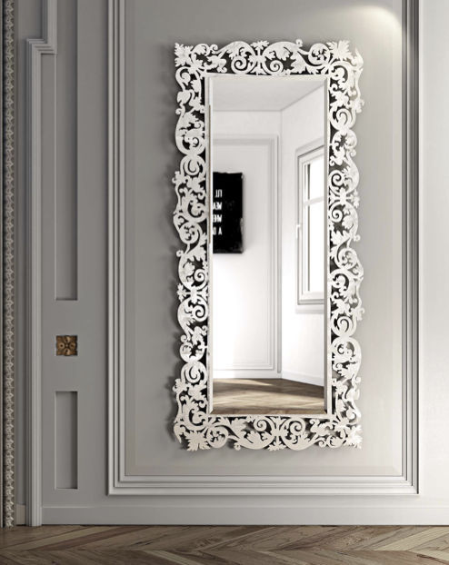Miroir rectangulaire mural id es de d coration for Specchio da parete riflessi