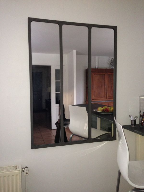 miroir style atelier id es de d coration int rieure. Black Bedroom Furniture Sets. Home Design Ideas
