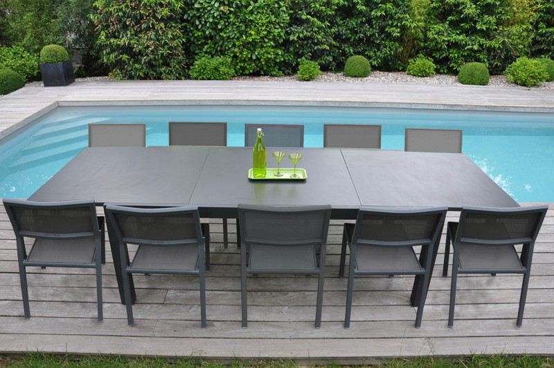 Emejing table de jardin metal solde contemporary awesome for Chaise table jardin pas cher
