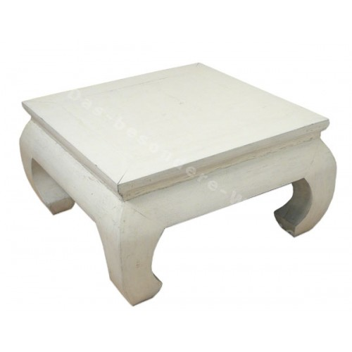 Table basse blanche en bois 2 id es de d coration int rieure french decor Table basse planche bois