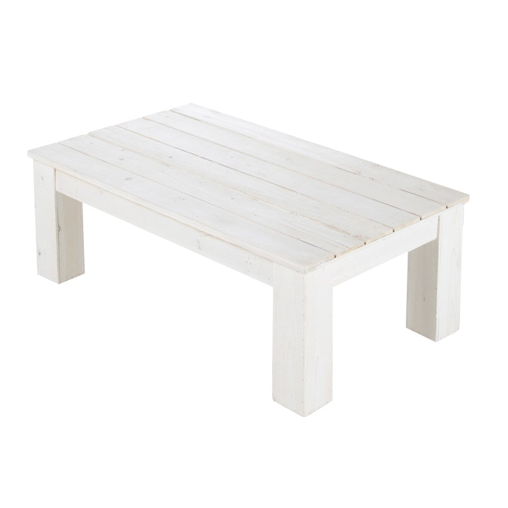 Table basse blanche en bois 4 id es de d coration int rieure french decor Table basse planche bois