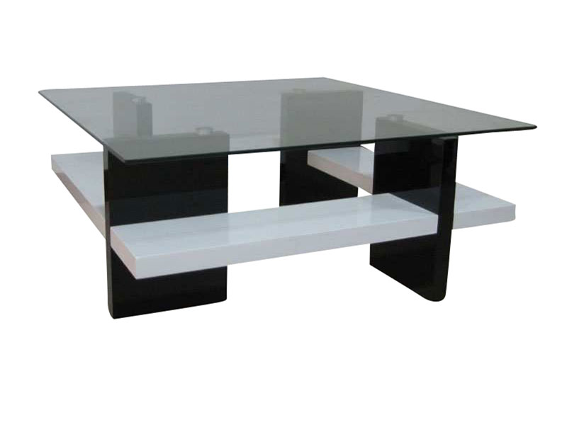 table basse blanche en verre
