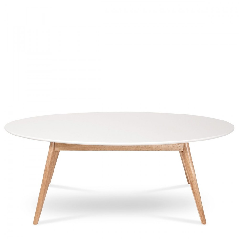 table basse blanche ovale