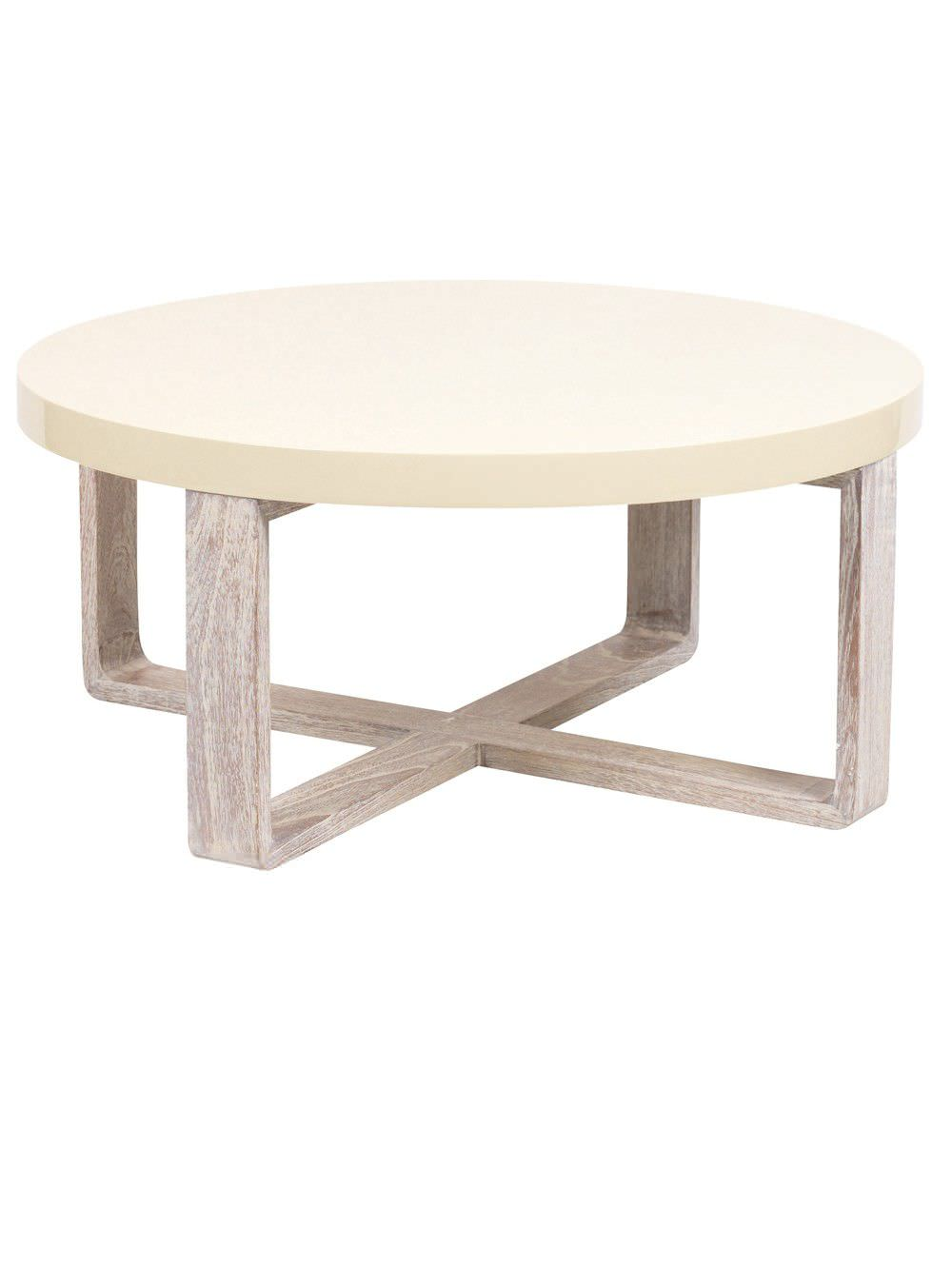 Table basse blanche pied bois id es de d coration int rieure french decor Table basse planche bois