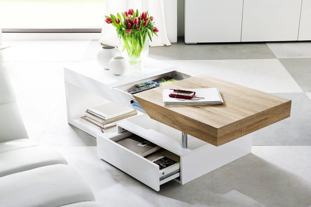 table basse bois et blanc laqu id es de d coration. Black Bedroom Furniture Sets. Home Design Ideas