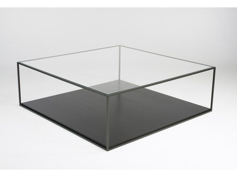 table basse carree verre