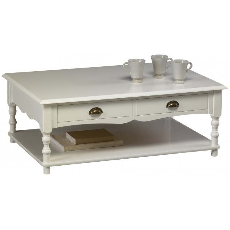 Table basse de salon blanche 15 id es de d coration for Deco table basse salon