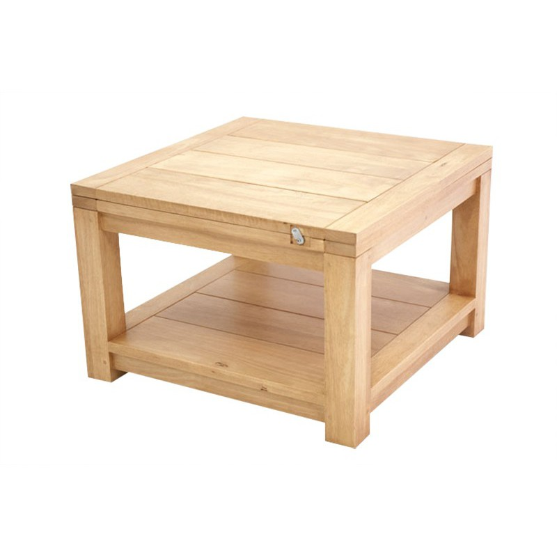 table basse de salon en bois massif