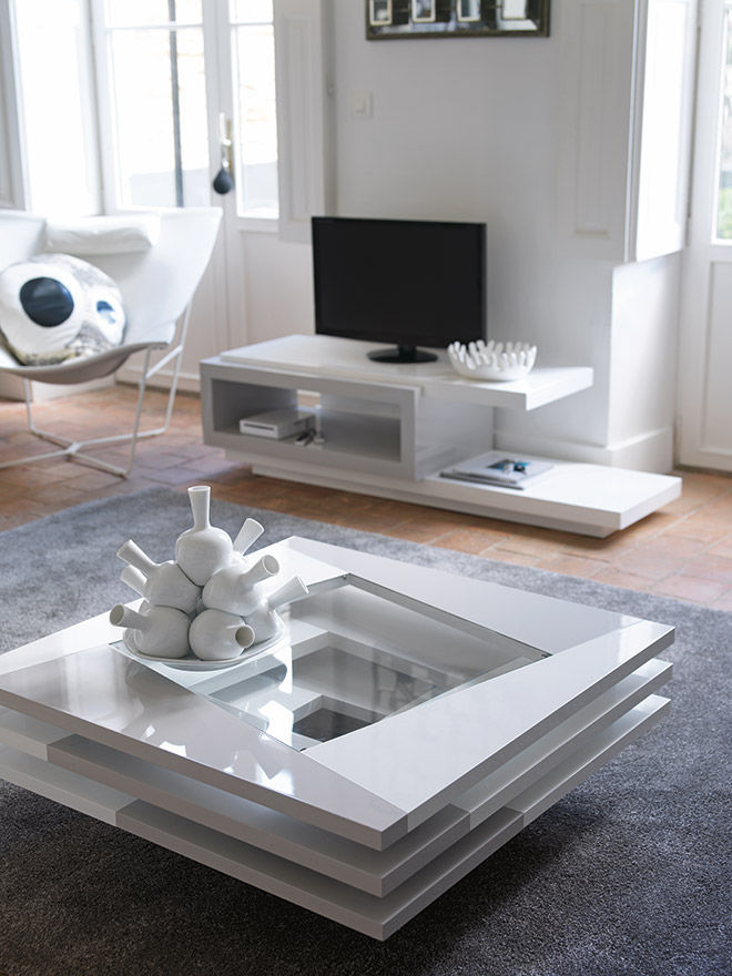 Table basse de salon en verre design 18 id es de - Tables basses de salon en verre ...