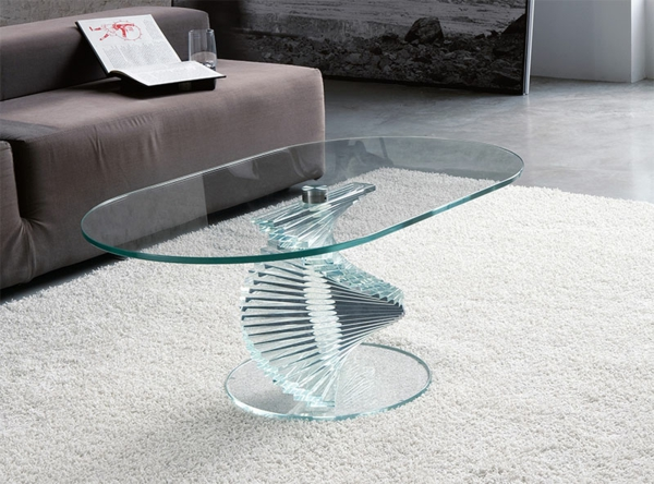 table basse de salon en verre design