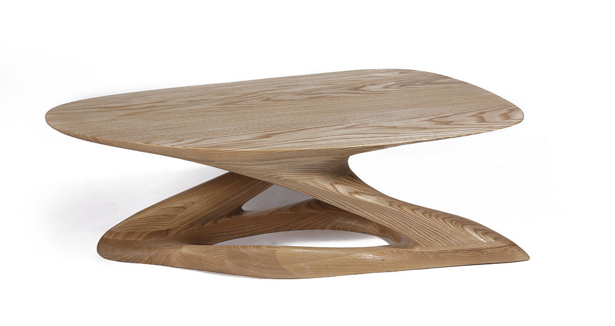 table basse design bois massif