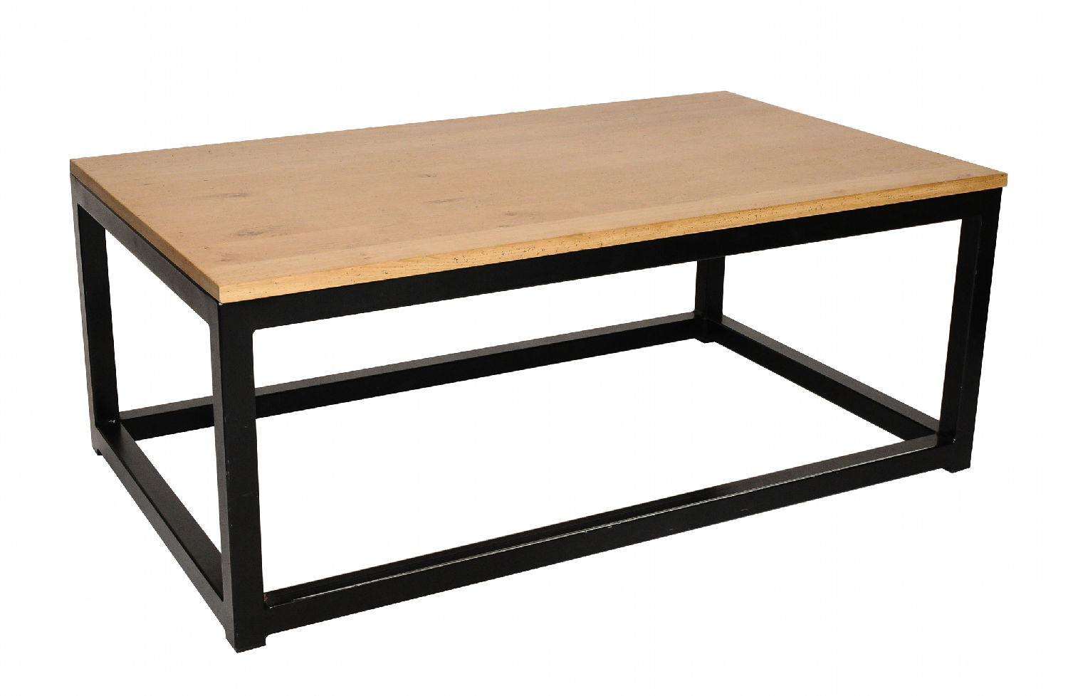 Table basse en fer et bois id es de d coration for Table basse fer et bois