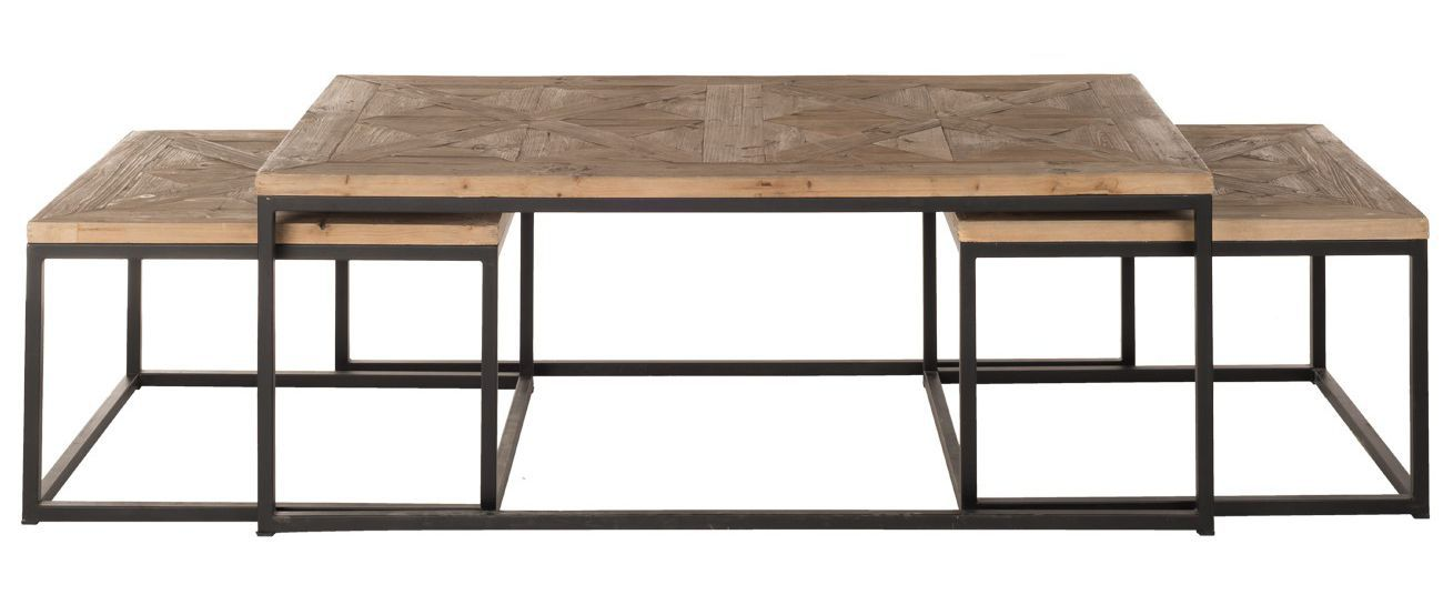 Table basse en fer et bois 13 id es de d coration for Table salon bois et fer