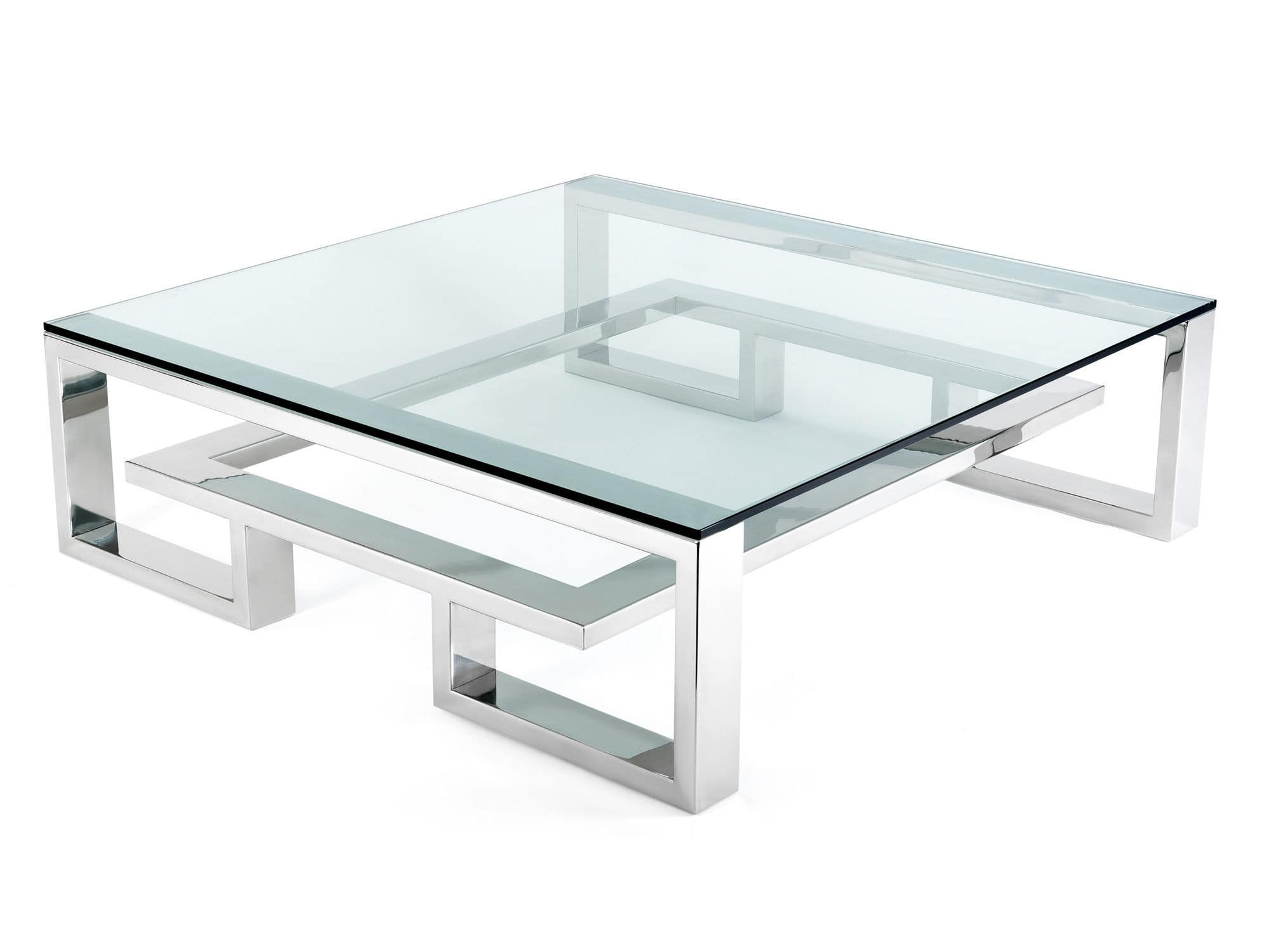 Table basse en verre carr e id es de d coration - Table basse carree verre ...