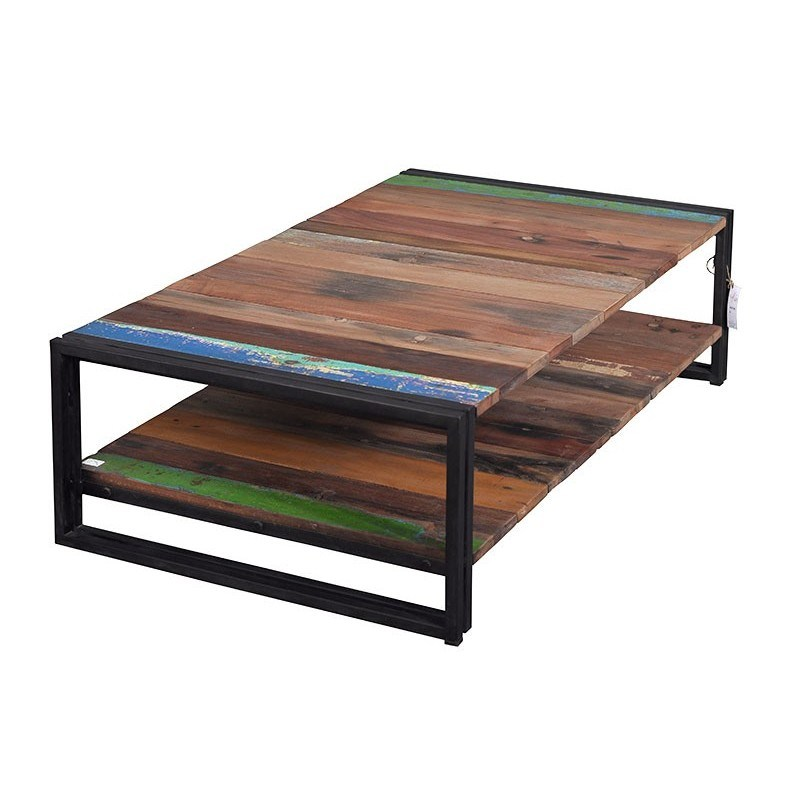 Table basse fer bois 9 id es de d coration int rieure for Table basse bois fer