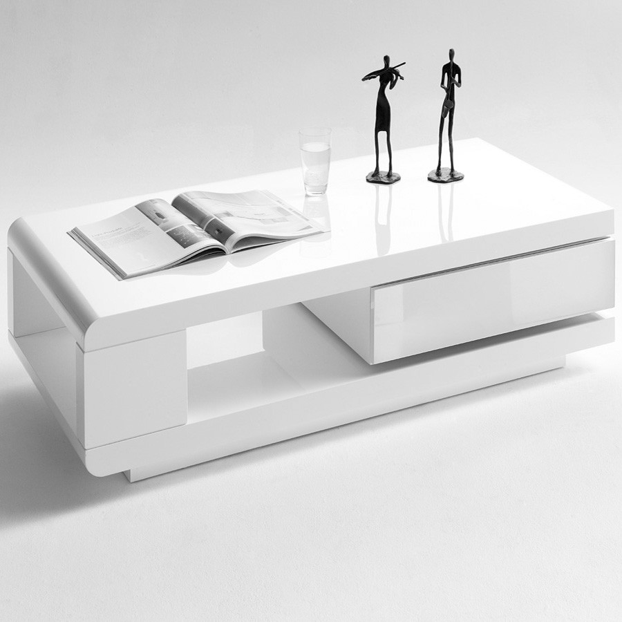 table basse moderne blanche