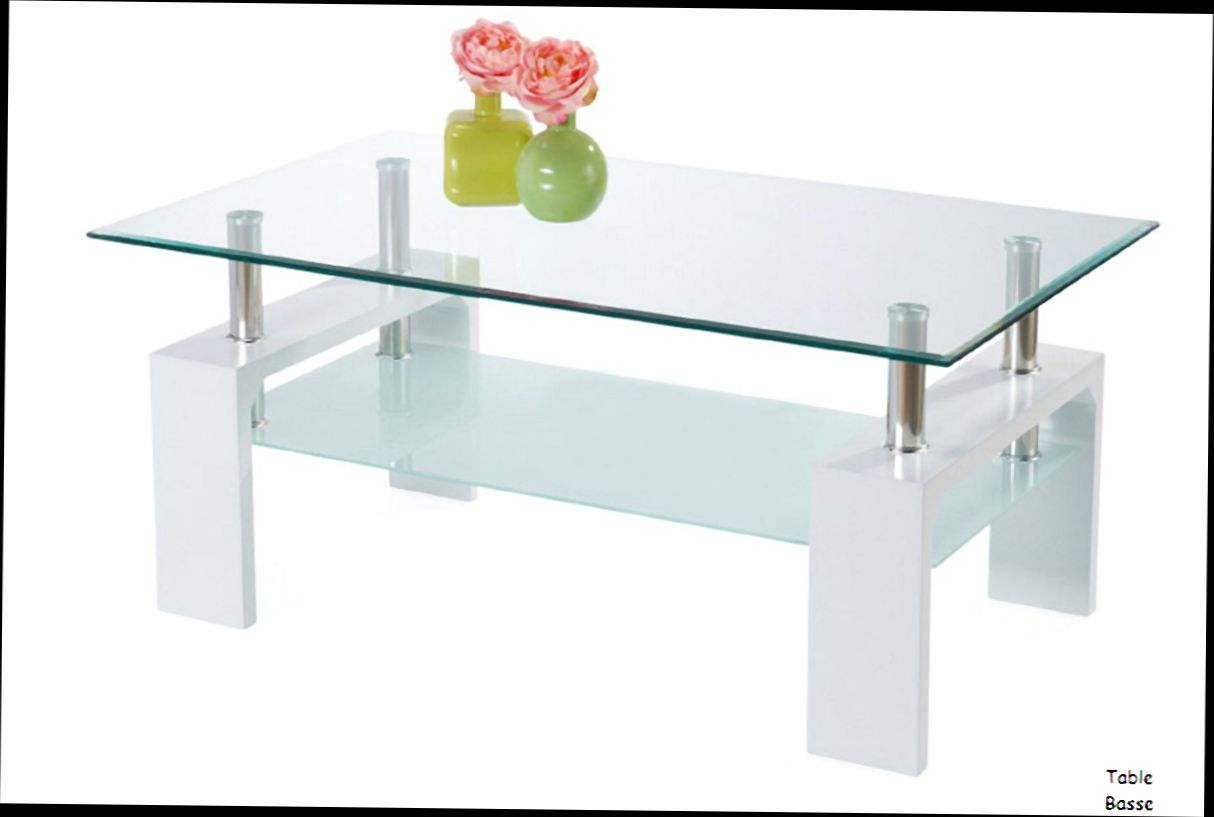 Plateau de verre pour table basse table basse salon for Table basse pour manger