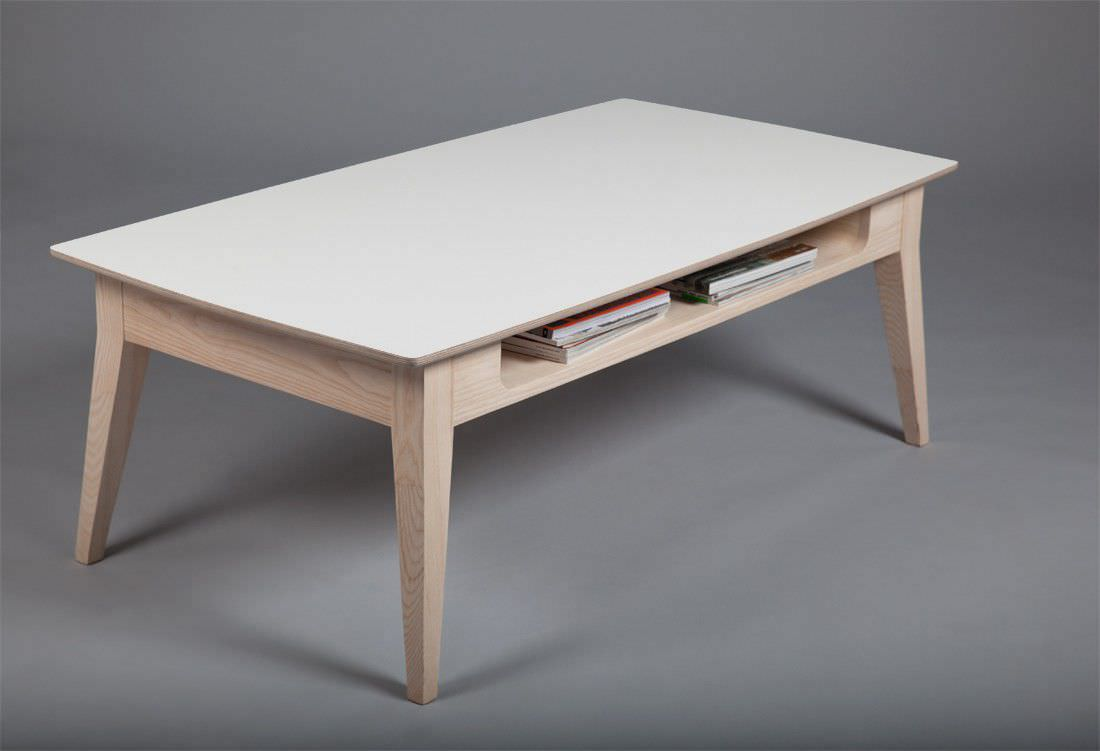 Table basse rectangulaire blanche id es de d coration for Pied de table scandinave