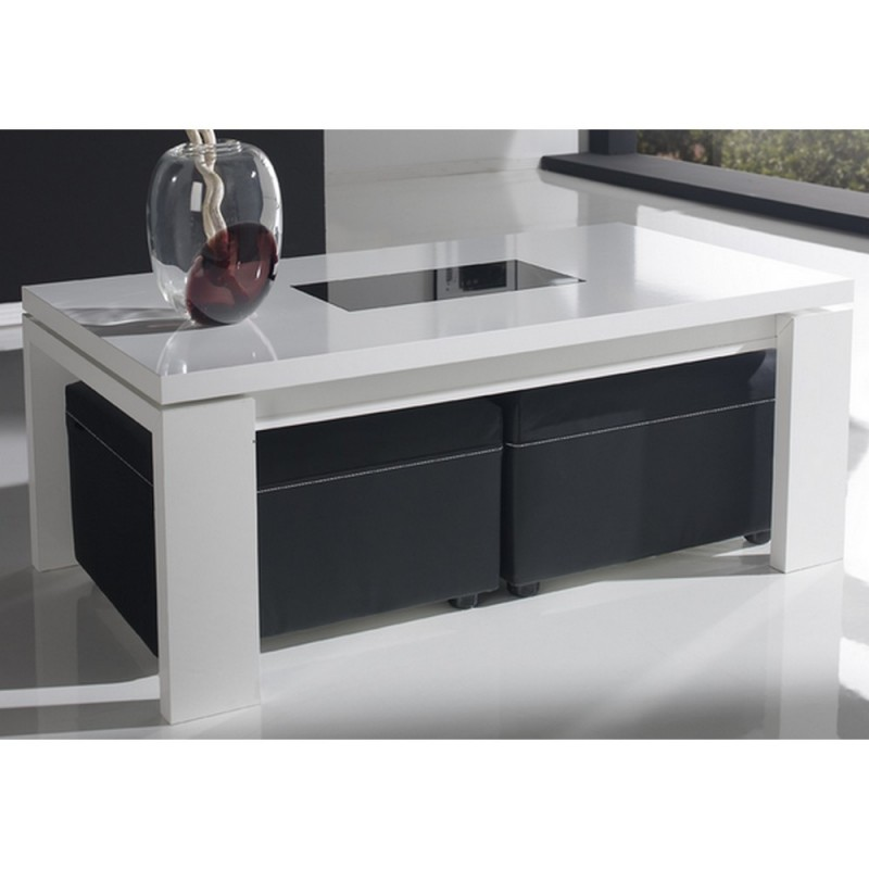 Table basse ronde blanche pas cher id es de d coration for Table ronde pas cher