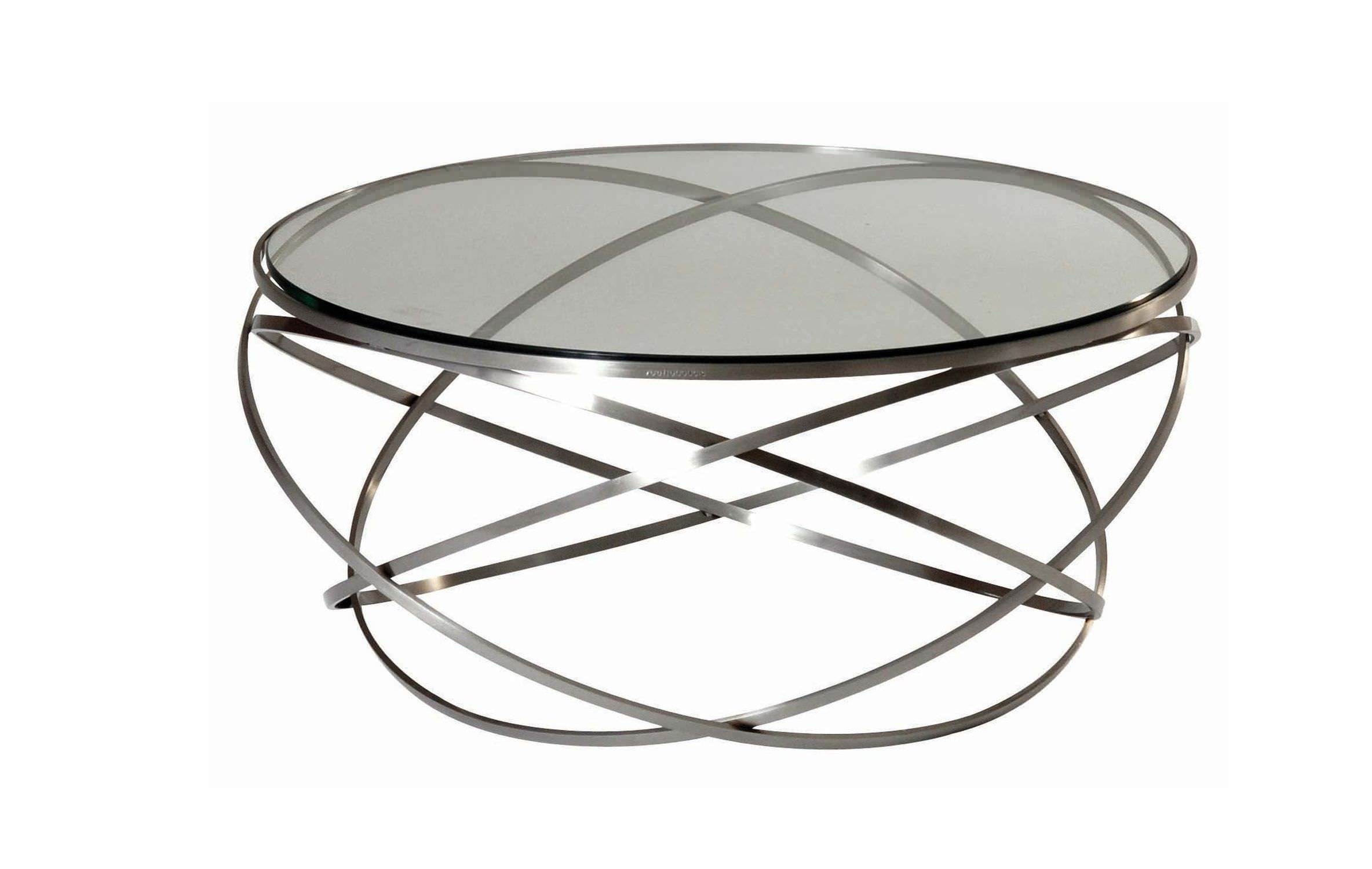 Table basse ronde en verre design id es de d coration for Table basse design ronde