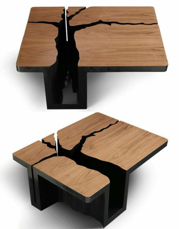 table de salon design en bois id es de d coration int rieure french decor. Black Bedroom Furniture Sets. Home Design Ideas