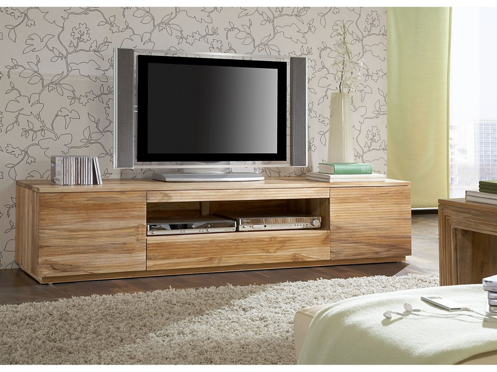 Table de television en bois id es de d coration for Table de tele
